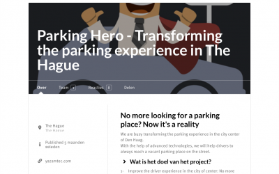 Transforming the parking experience in The Hague