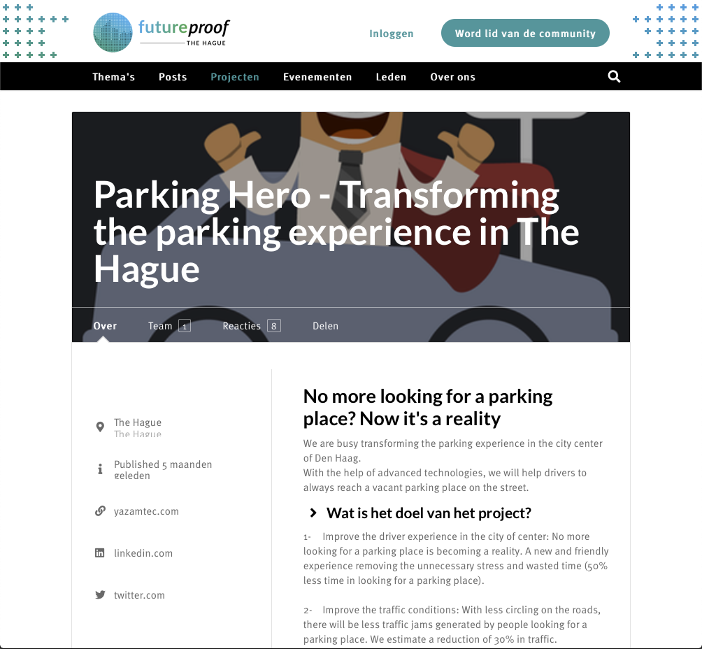 Screenshot of Future Proof article featuring Parking Hero App